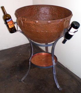 Custom Made Iron Ice Bucket with Copper Tray