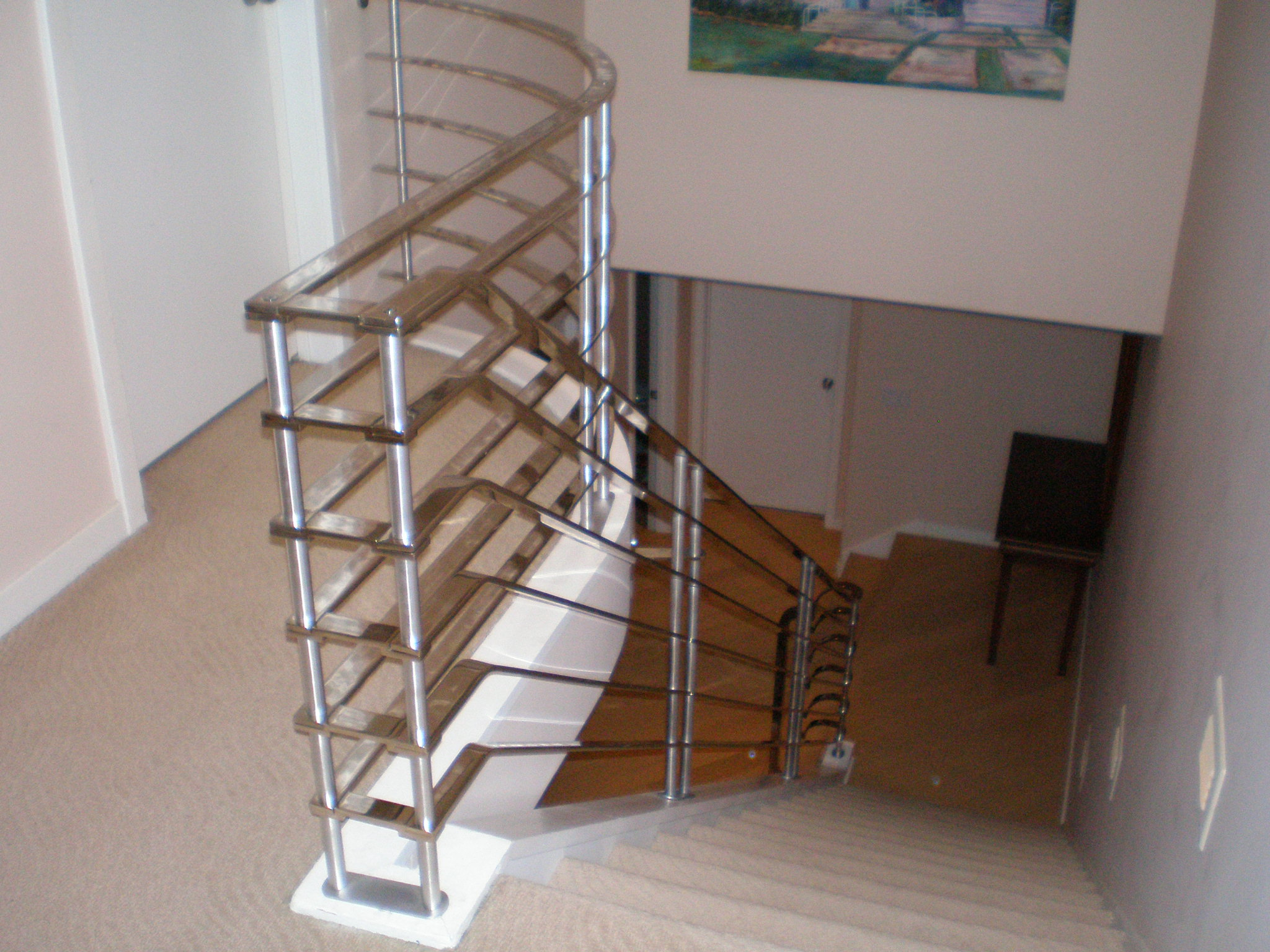 Best Chrome Plated Stair Railing Art Deco Fabulousness Jmr Steel Stair Railing Steel Stairs 400 x 300