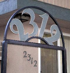 Large Custom Made Metal Address Numbers