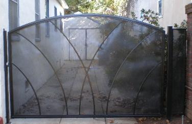 Custom Iron Gate with Metal Screen