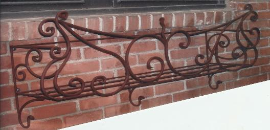 CustomOrnamental Wrought Iron Window Box
