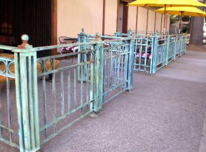 Custom Iron Fencing with Antiqued Patina