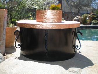 Custom Copper and Iron Firepit