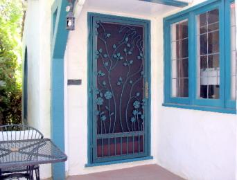 Garden Scene Screen Door