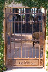 Custom Ornamental Iron Courtyard Gate - El Dorado Hills