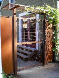 Welded Wire Gate with overhead Trellis