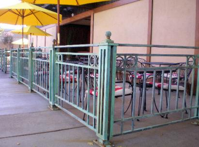 Wrought Iron Fencing with Custom Antiqued Patina