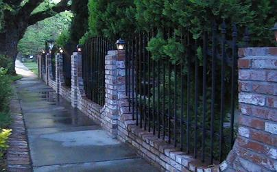 Light Custom Ornamental Iron  Fence