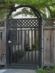 Steel Lattice Gate