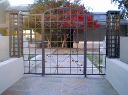 Ornamental Iron Gate with Wrought Iron Vine Work - El Dorado Hills