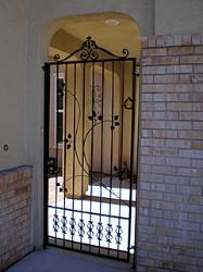 Custom Iron Courtyard Gate - Elk Grove
