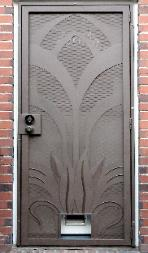 Art Neuvo Style Screen Door