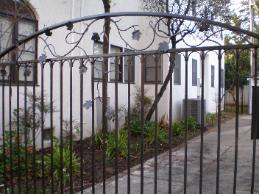 Light Custom Ornamental Iron Driveway Gate