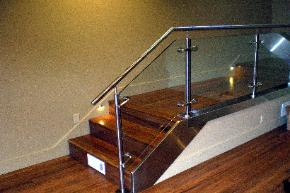 Custom Fabricated Stainless Steel and Glass Railing