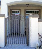 Wrought Iron Courtyard Gate - Elk Grove