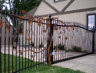 Custom Hand Forged Grapevine Gate