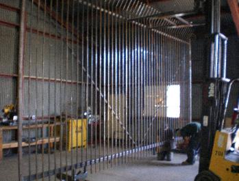 12' tall x 20' wide Iron Security Gate