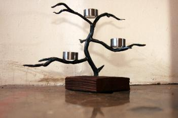 Forged Steel Candle Holder